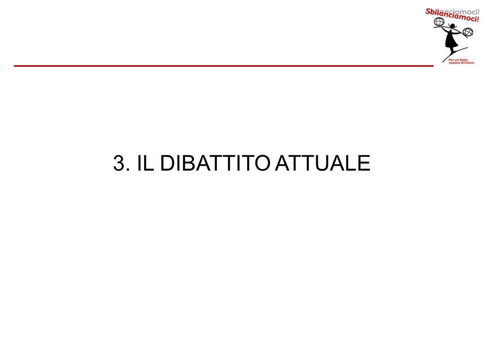 3. IL DIBATTITO ATTUALE