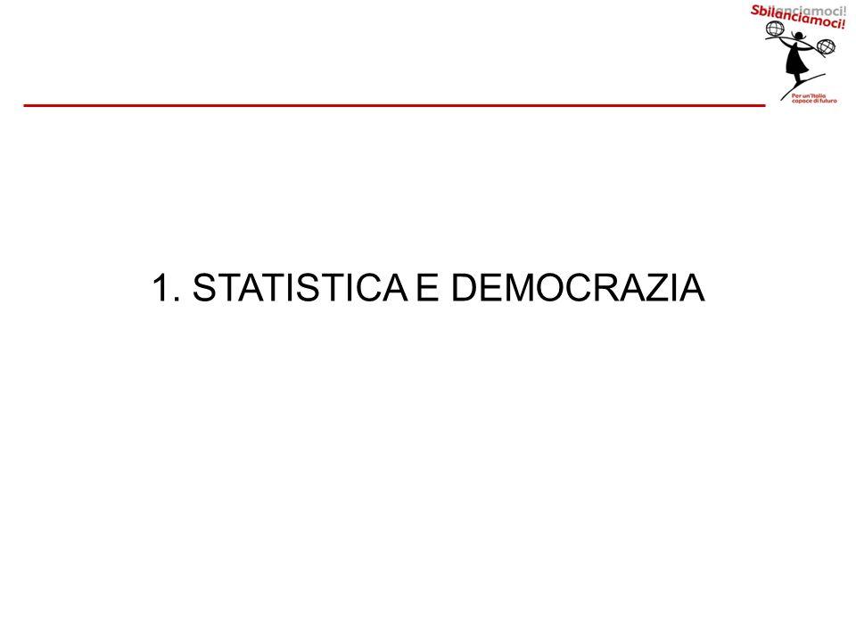 1. STATISTICA E DEMOCRAZIA