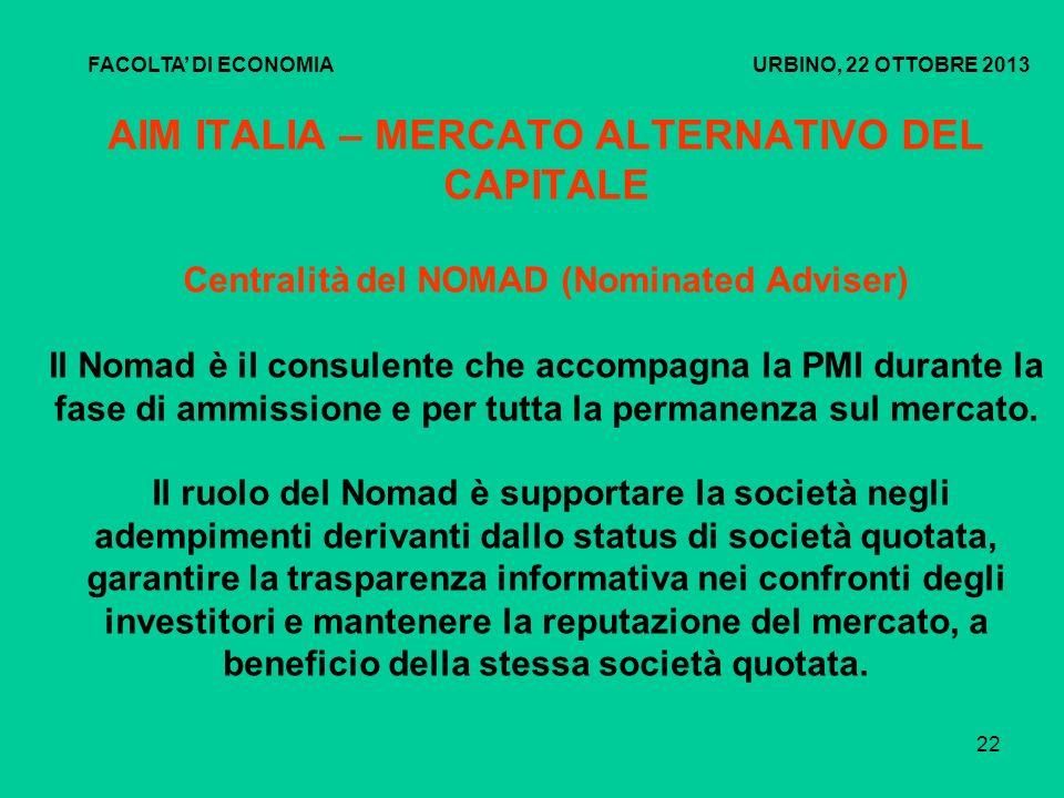 23 AIM ITALIA – MERCATO ALTERNATIVO DEL CAPITALE Requisiti di accesso ridotti rispetto ad altri mercati Non è prevista una dimensione minima o massima in termine di capitalizzazione e di flottante (è sufficiente una soglia minima del 10%).