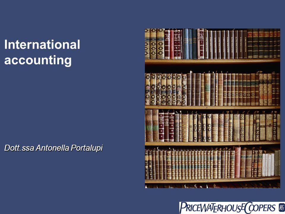 International accounting Dott.ssa Antonella Portalupi
