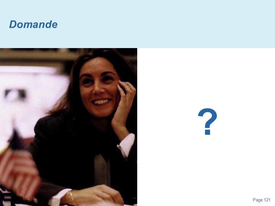 Page 121 Domande ?