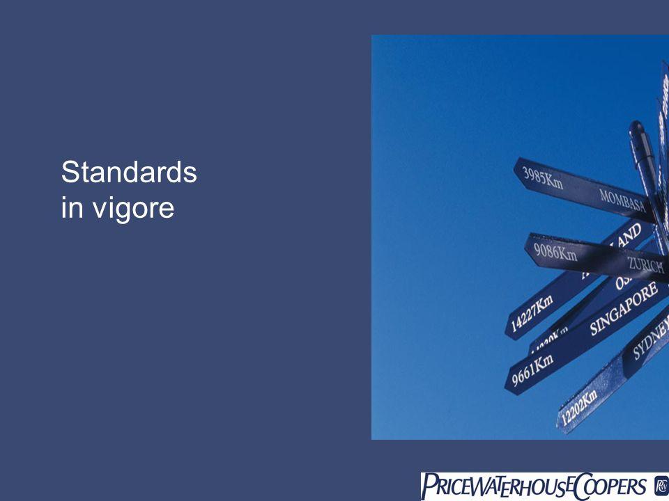 Standards in vigore