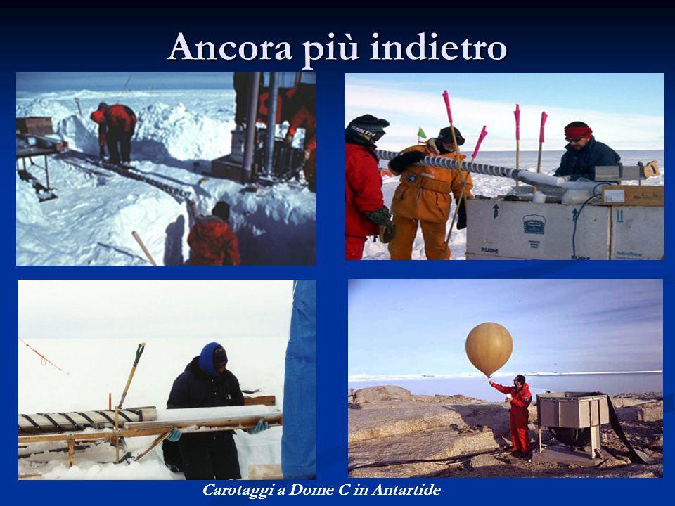Ancora più indietro Carotaggi a Dome C in Antartide