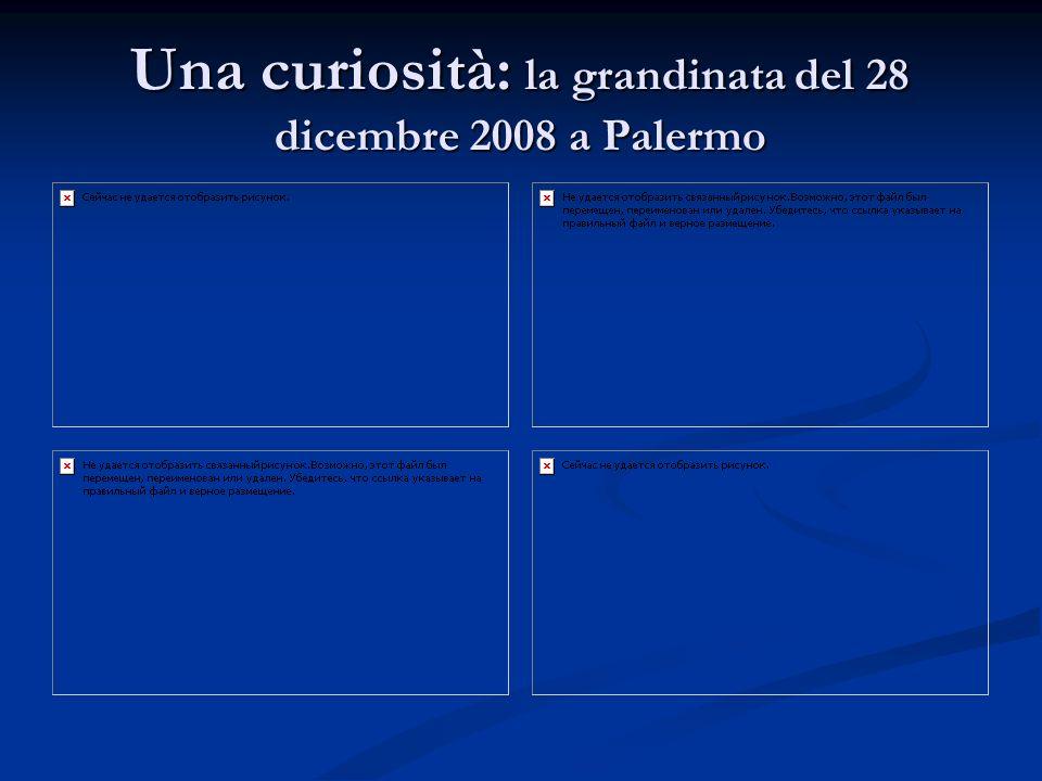 Una curiosità: la grandinata del 28 dicembre 2008 a Palermo