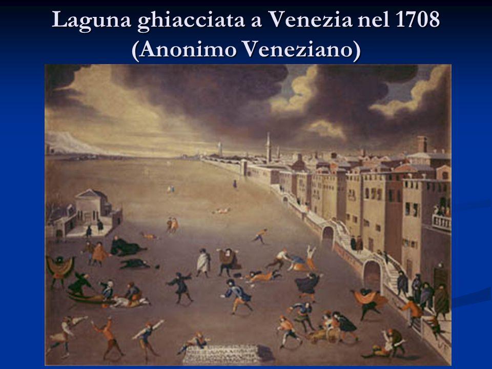 Laguna ghiacciata a Venezia nel 1708 (Anonimo Veneziano)