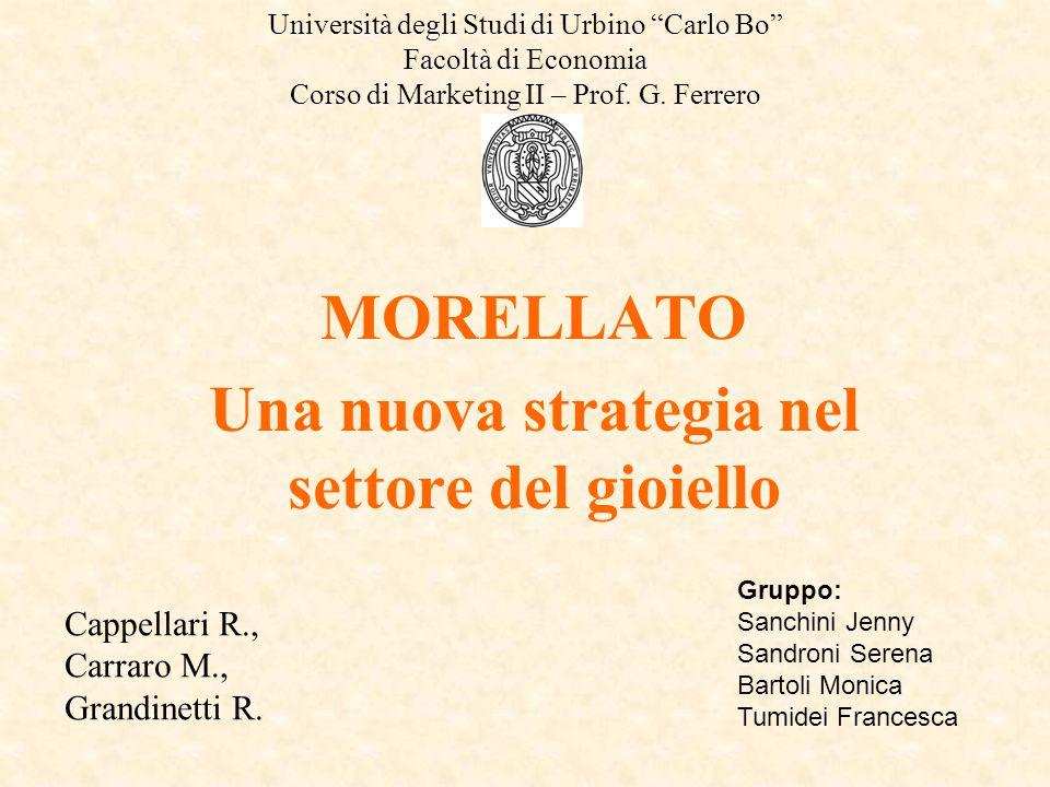 Università degli Studi di Urbino Carlo Bo Facoltà di Economia Corso di Marketing II – Prof. G. Ferrero MORELLATO Una nuova strategia nel settore del g