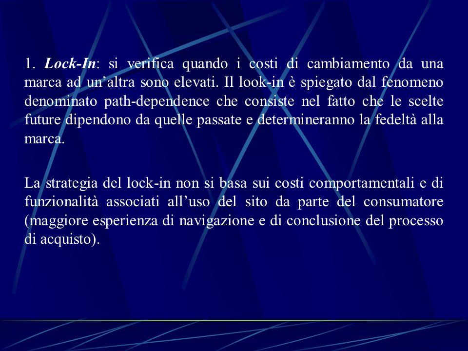 Strumenti per perseguire il lock-in: - Sottoscrizione: per es.