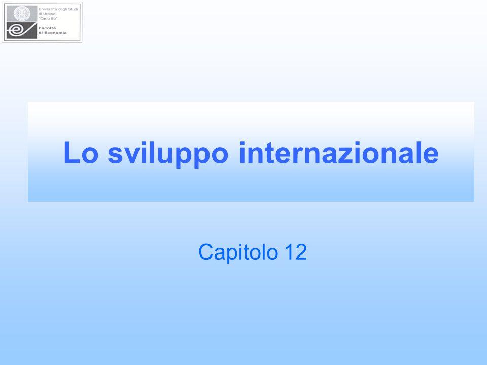 Lo sviluppo internazionale Capitolo 12