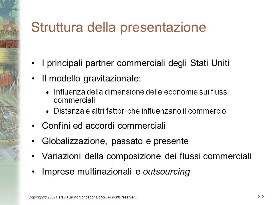 Copyright © 2007 Paravia Bruno Mondadori Editori. All rights reserved. 2-2 Struttura della presentazione I principali partner commerciali degli Stati