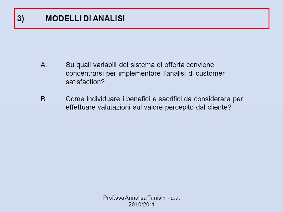 Una premessa: mercati business e clienti business Chi è il cliente business.