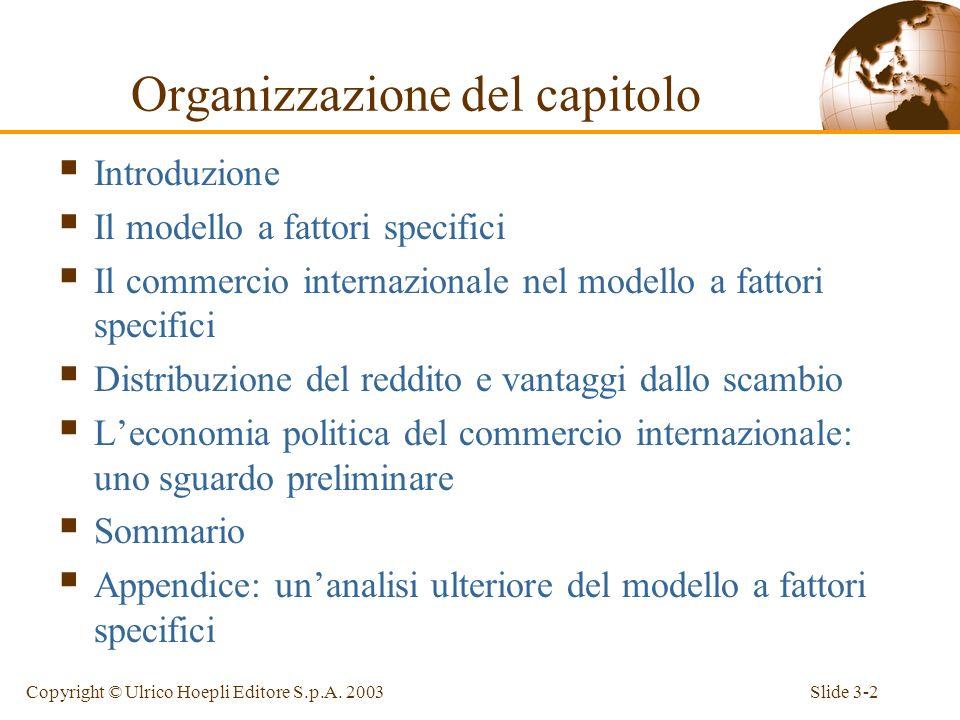 Capitolo 3 Fattori specifici e distribuzione del reddito Corso tenuto da Sergio de Nardis Economia internazionale: teoria e politica del commercio int