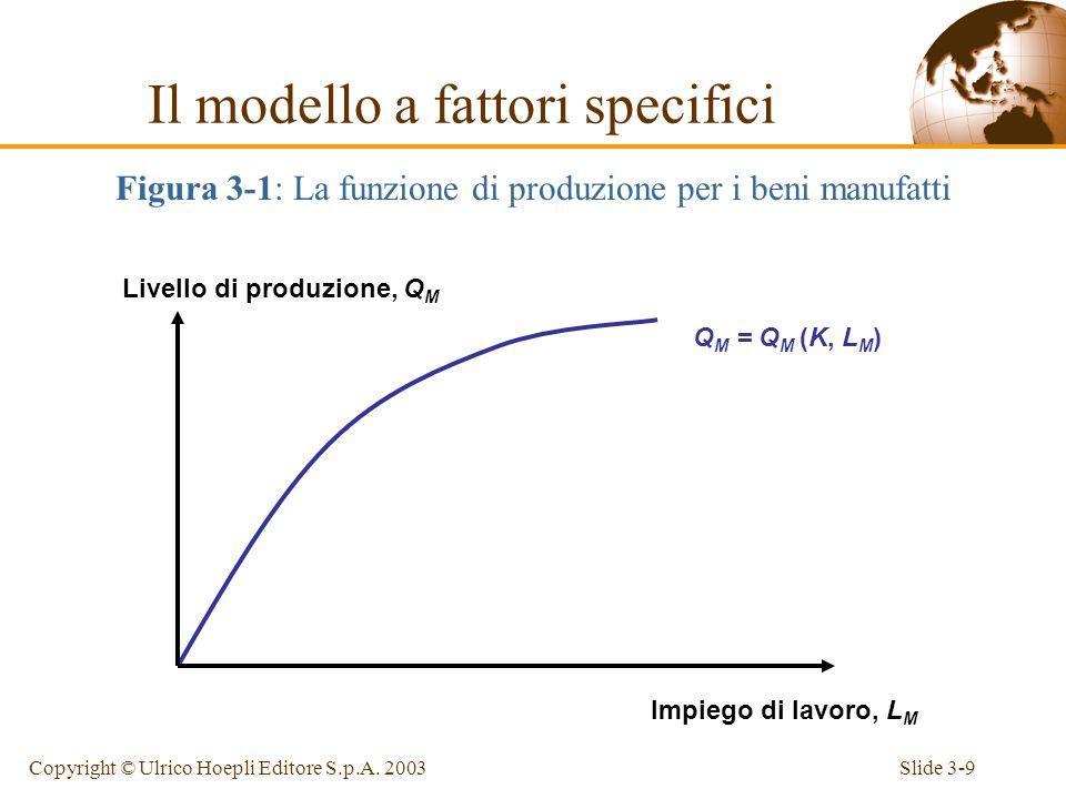 Slide 3-8Copyright © Ulrico Hoepli Editore S.p.A. 2003 Possibilità produttive Per analizzare le possibilità produttive di un paese, è sufficiente chie
