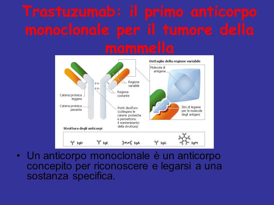 Trastuzumab: il primo anticorpo monoclonale per il tumore della mammella Un anticorpo monoclonale è un anticorpo concepito per riconoscere e legarsi a