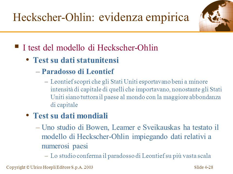 Slide 4-28Copyright © Ulrico Hoepli Editore S.p.A.
