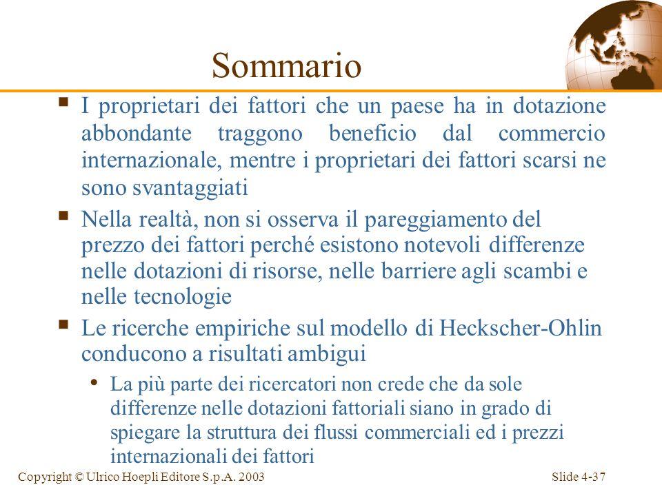 Slide 4-37Copyright © Ulrico Hoepli Editore S.p.A.