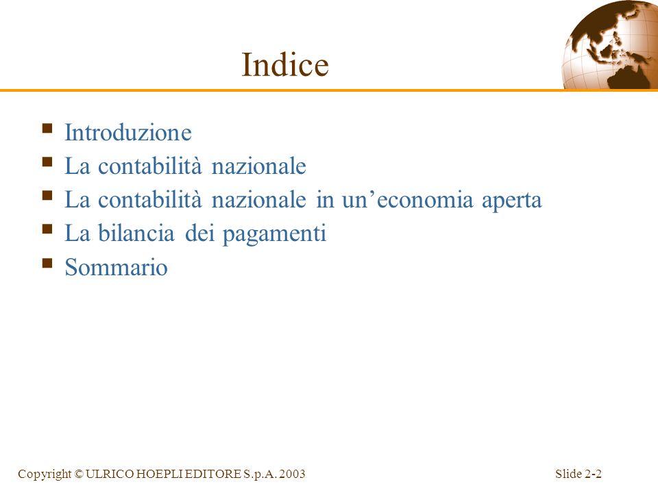 Capitolo 2 Contabilità nazionale e bilancia dei pagamenti