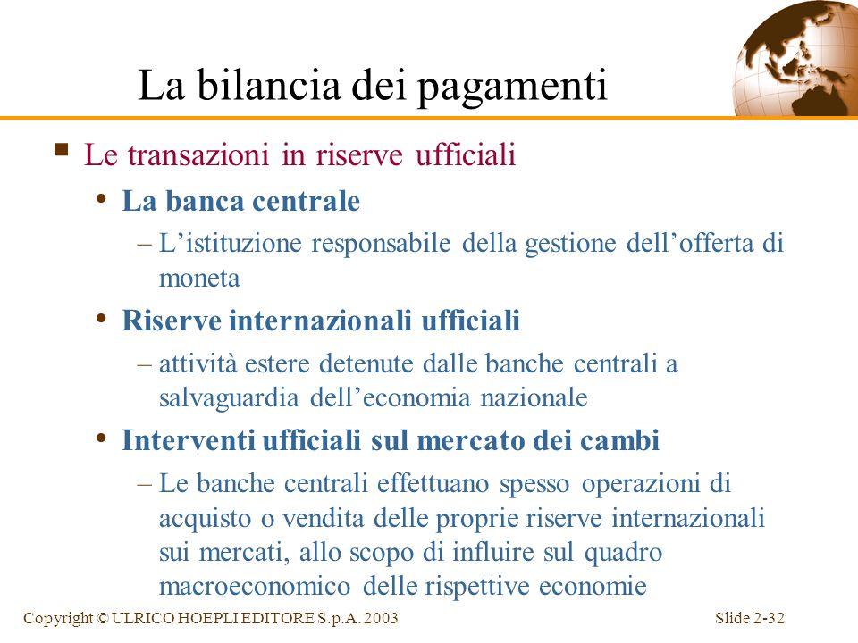 Slide 2-31Copyright © ULRICO HOEPLI EDITORE S.p.A. 2003 Le differenze statistiche I dati associati ad una certa transazione possono provenire da fonti