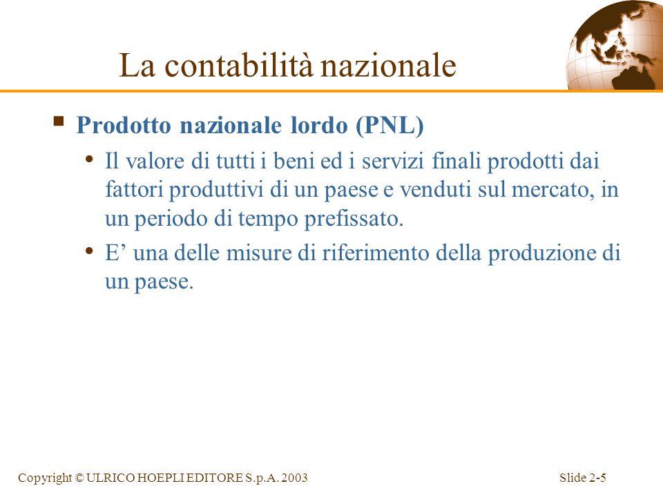 Slide 2-4Copyright © ULRICO HOEPLI EDITORE S.p.A. 2003 La contabilità nazionale e la bilancia dei pagamenti sono strumenti essenziali per lanalisi mac
