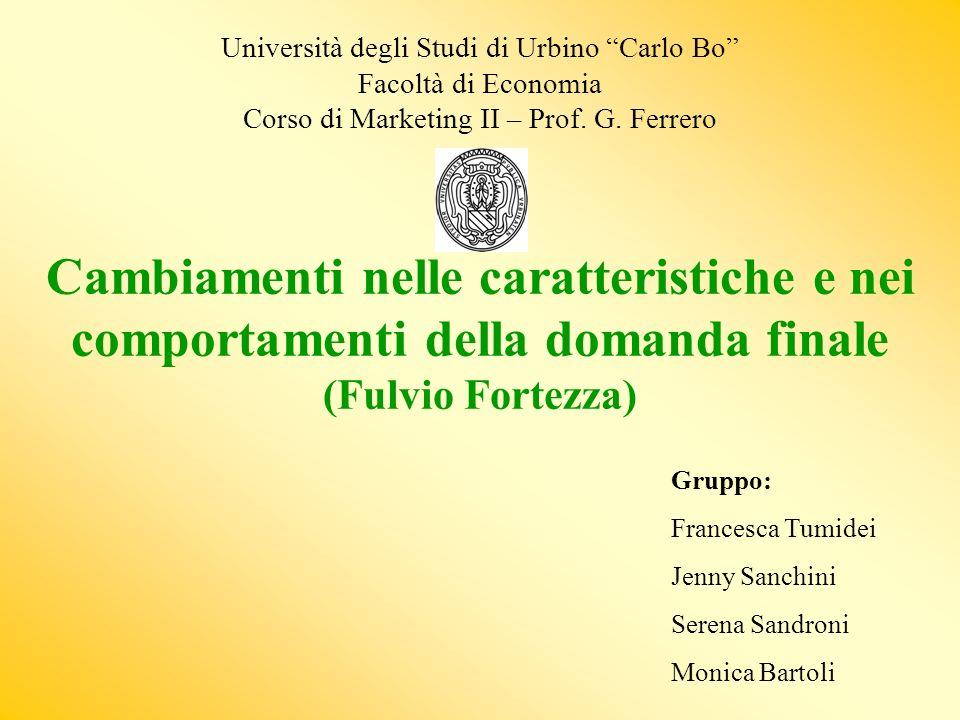 Università degli Studi di Urbino Carlo Bo Facoltà di Economia Corso di Marketing II – Prof.