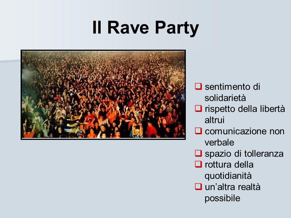 Il Rave Party sentimento di solidarietà rispetto della libertà altrui comunicazione non verbale spazio di tolleranza rottura della quotidianità unaltr