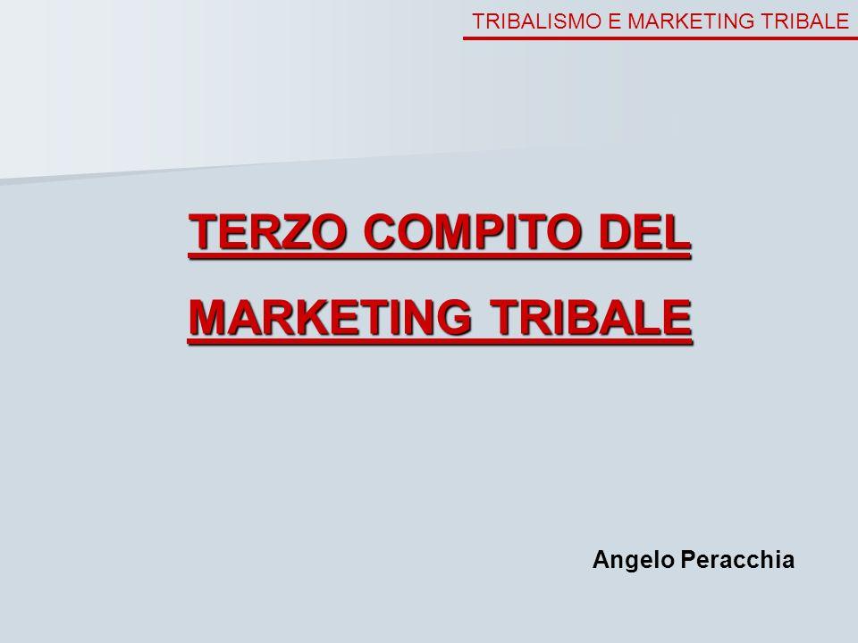 TRIBALISMO E MARKETING TRIBALE TERZO COMPITO DEL MARKETING TRIBALE Angelo Peracchia