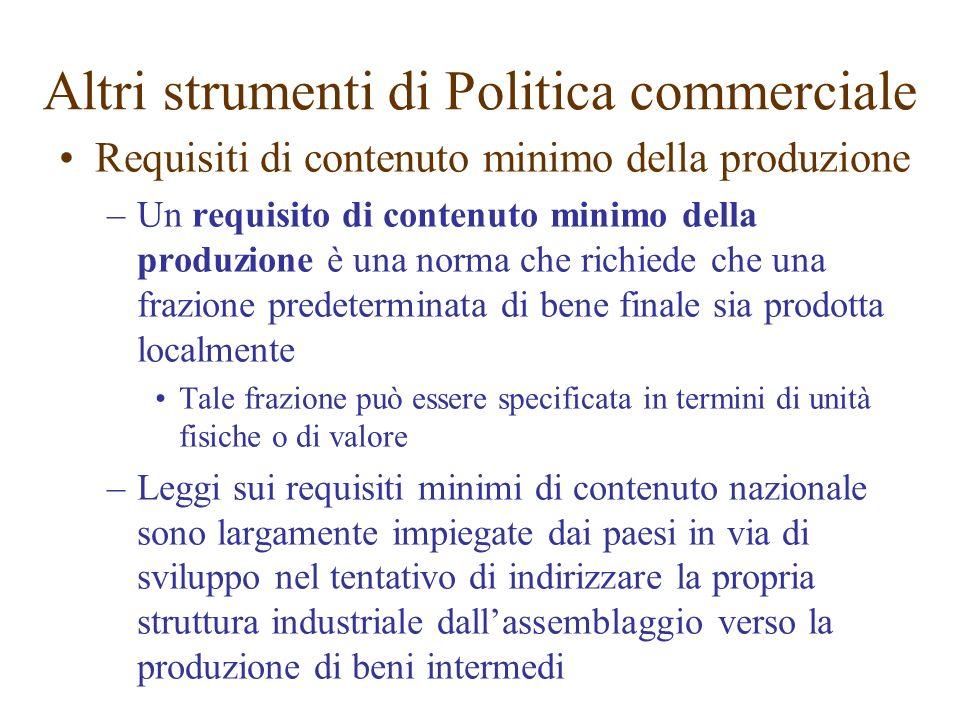 Requisiti di contenuto minimo della produzione –Un requisito di contenuto minimo della produzione è una norma che richiede che una frazione predetermi