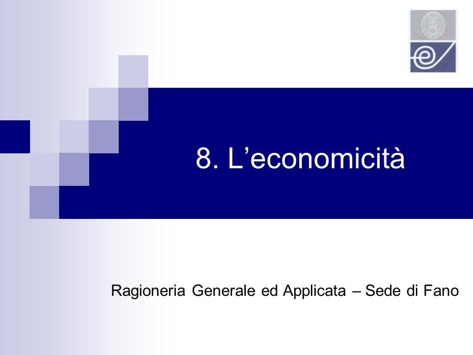 8. Leconomicità Ragioneria Generale ed Applicata – Sede di Fano