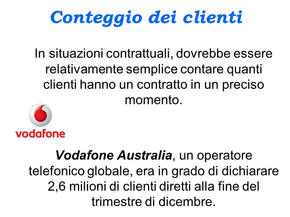 valore dei clienti E influenzato dalle seguenti componenti: il valore monetizzato del cliente; i costi associati al sostentamento del cliente; la durata della relazione.