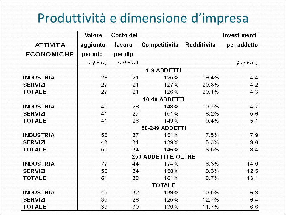 Produttività e dimensione dimpresa