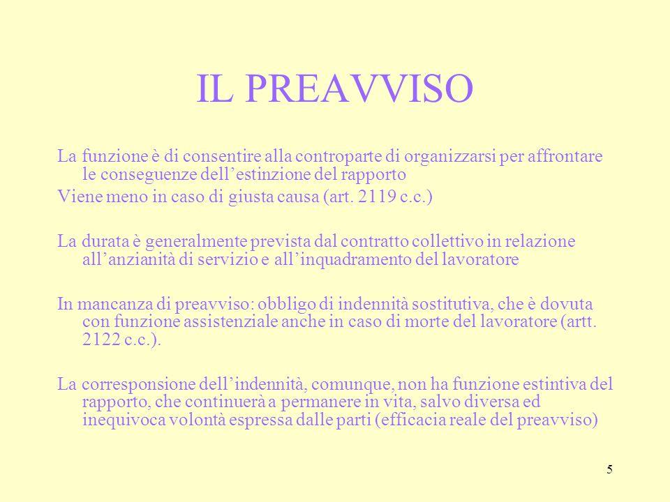26 IL LICENZIAMENTO PER RIDUZIONE DI PERSONALE (art.