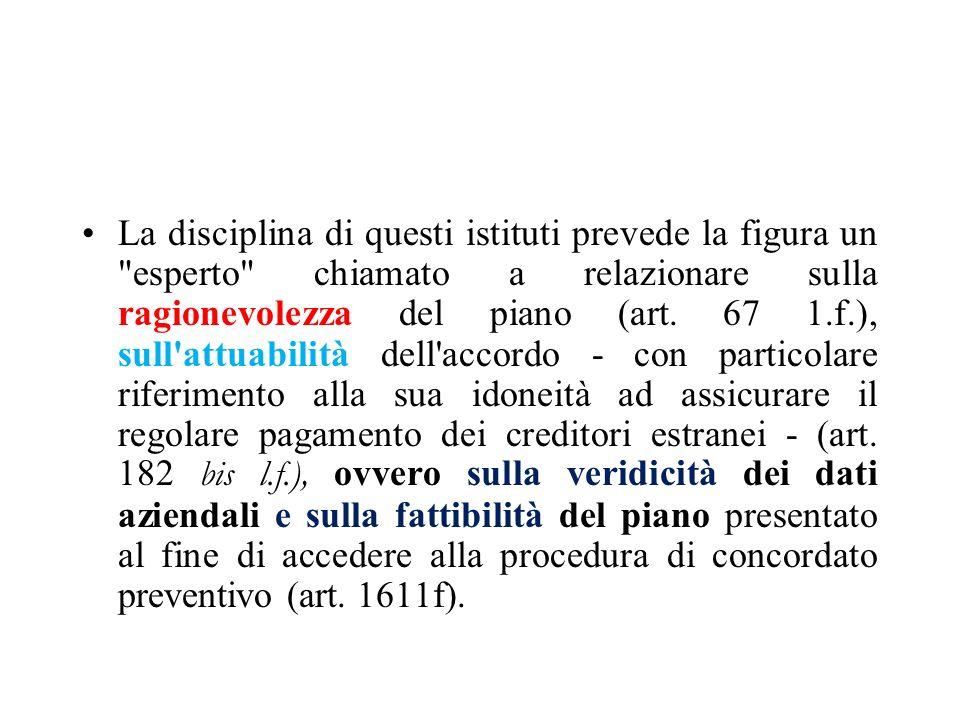 182 bis Pertanto alcuni commentatori hanno ritenuto necessaria l allegazione sia della relazione sull attuabilità dell accordo, sia della relazione ex art.