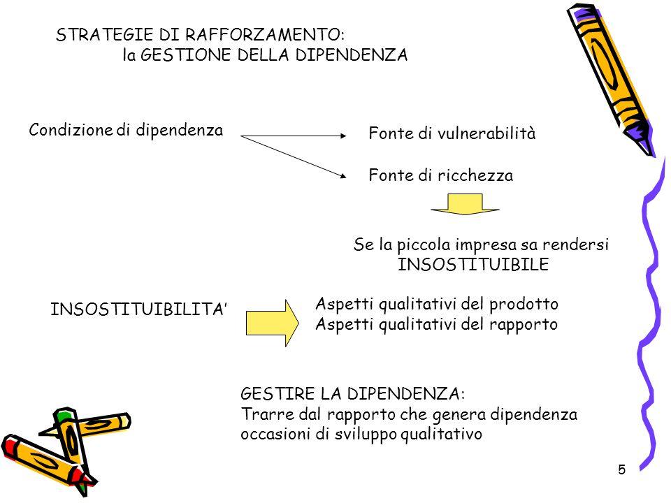 6 Le strategie di innovazione: i rapporti interaziendali Processi che rientrano tra le innovazioni organizzative Comprendono la varietà dei percorsi imprenditoriali e dei sentieri di sviluppo che non comportano necessariamente la crescita e che sono accomunati dalla variabile organizzativa RAPPORTI INTERAZIENDALI: Nuove forme per organizzare le attività produttiva basate sul ricorso a relazioni Cooperative con altre imprese che comportano: - revisione delle modalità di organizzazione interna - processi di reciproco adattamento e coordinamento FORME RETICOLARI FORMALI/INFORMALI ALLEANZE STRATEGICHE ACCORDI DI COLLABORAZIONE FORMAZIONE