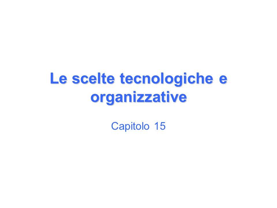 Le scelte tecnologiche e organizzative Capitolo 15