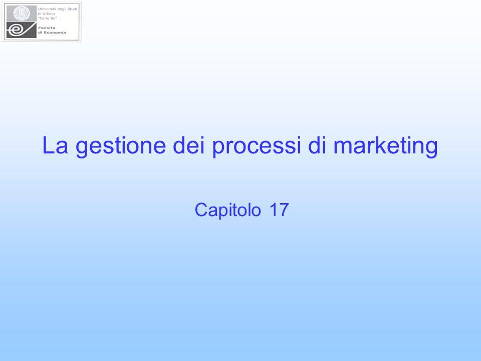 La gestione dei processi di marketing Capitolo 17