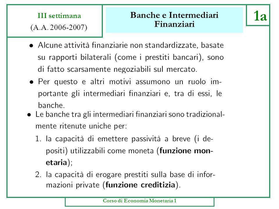 frontespizio Economia Monetaria Anno Accademico 2006-07
