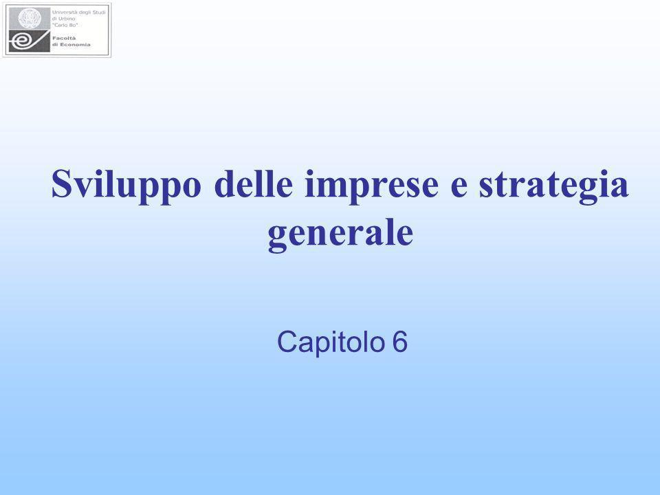 Sviluppo delle imprese e strategia generale Capitolo 6