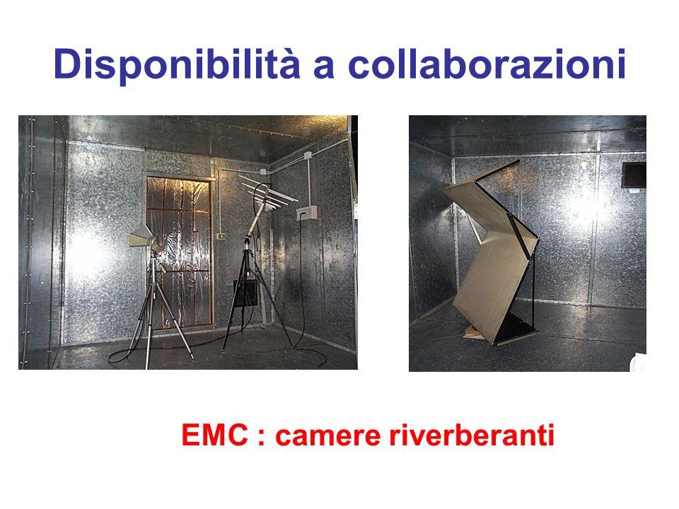 Disponibilità a collaborazioni EMC : camere riverberanti