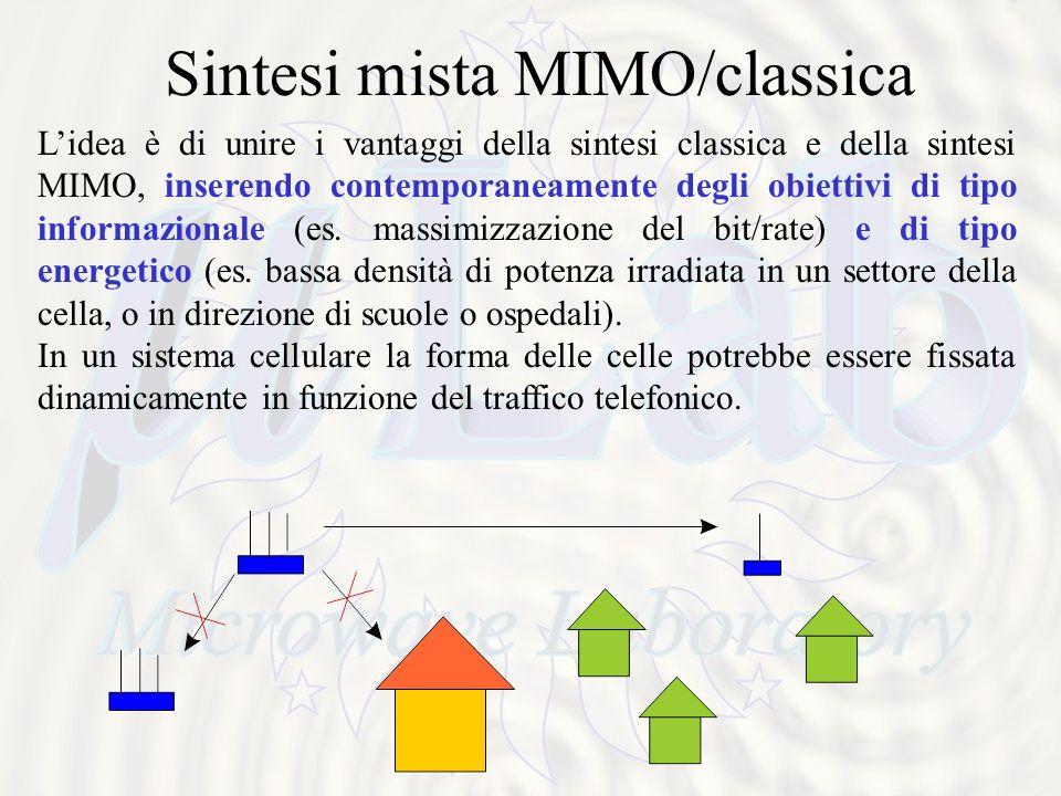 Sintesi mista MIMO/classica Lidea è di unire i vantaggi della sintesi classica e della sintesi MIMO, inserendo contemporaneamente degli obiettivi di tipo informazionale (es.