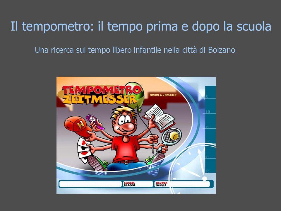 Il tempometro: il tempo prima e dopo la scuola Una ricerca sul tempo libero infantile nella città di Bolzano