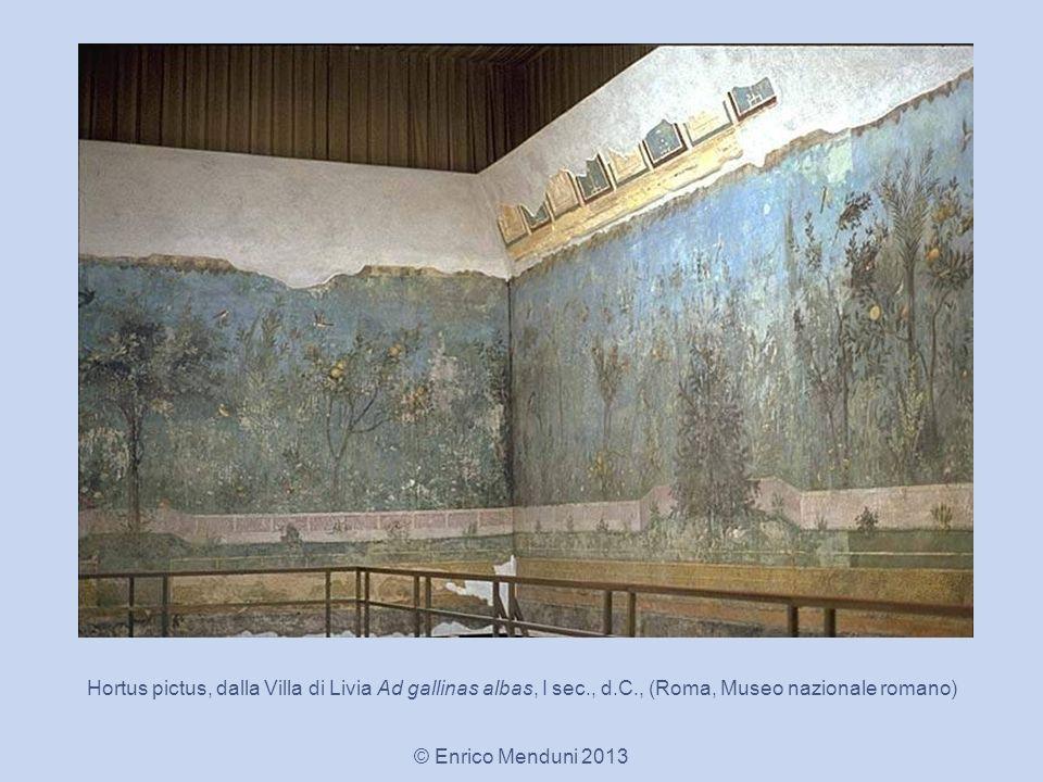 Hortus pictus, dalla Villa di Livia Ad gallinas albas, I sec., d.C., (Roma, Museo nazionale romano) © Enrico Menduni 2013