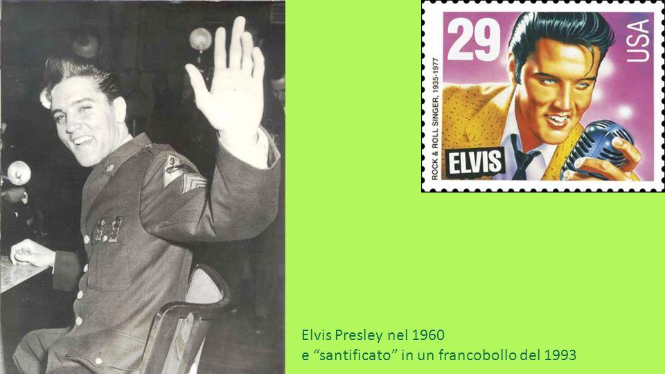 Elvis Presley nel 1960 e santificato in un francobollo del 1993