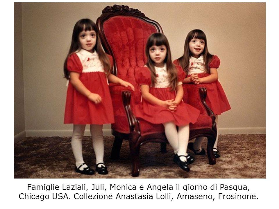 Famiglie Laziali, Juli, Monica e Angela il giorno di Pasqua, Chicago USA. Collezione Anastasia Lolli, Amaseno, Frosinone.