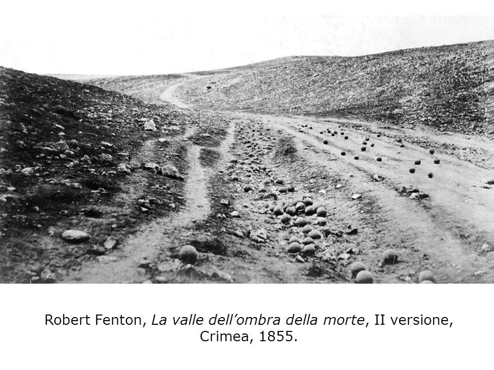 Robert Fenton, La valle dellombra della morte, II versione, Crimea, 1855.