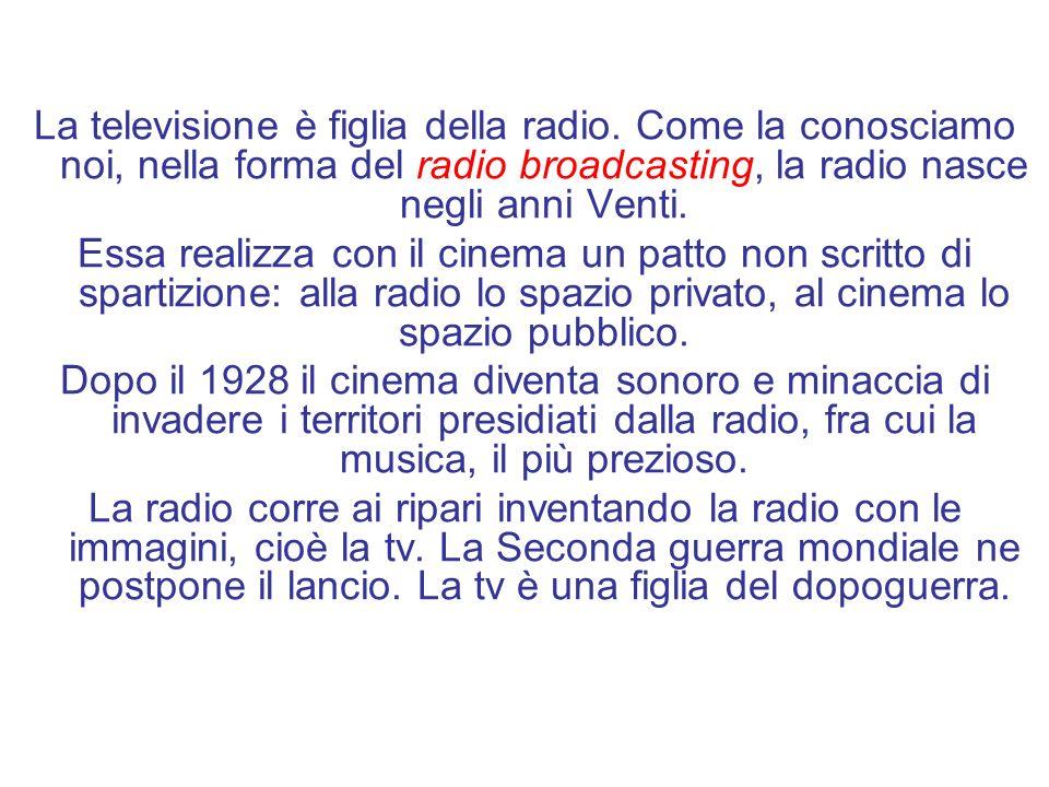 La televisione è figlia della radio.