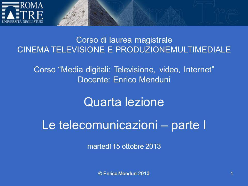 Università Roma Tre Corso di laurea magistrale CINEMA TELEVISIONE E PRODUZIONEMULTIMEDIALE Corso Media digitali: Televisione, video, Internet Docente: