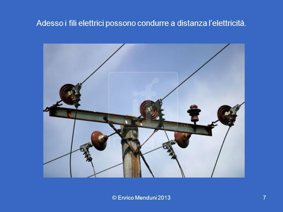 Adesso i fili elettrici possono condurre a distanza lelettricità. © Enrico Menduni 20137