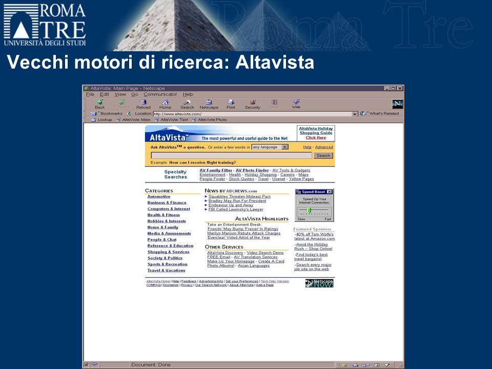 Vecchi motori di ricerca: Altavista