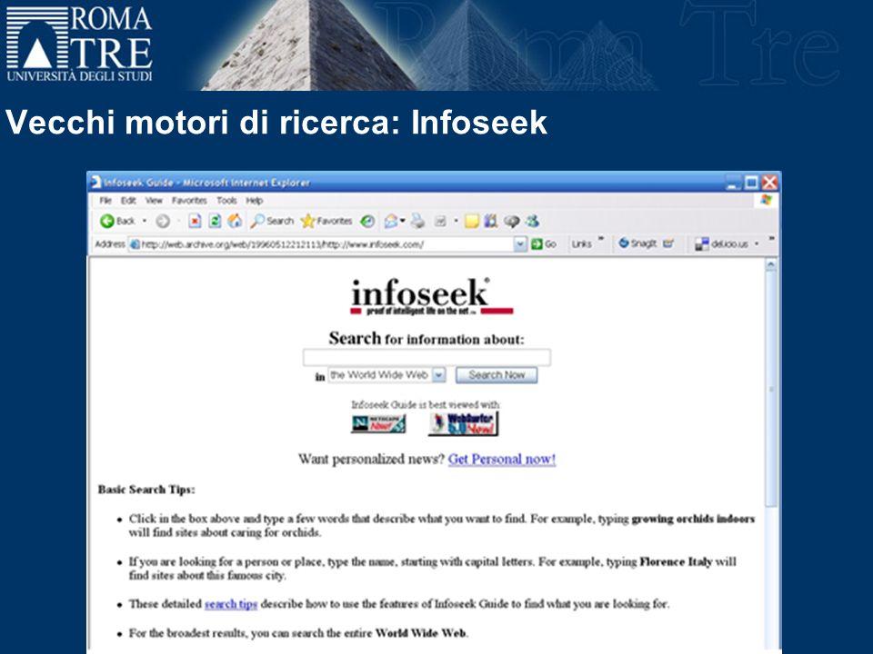 Vecchi motori di ricerca: Infoseek