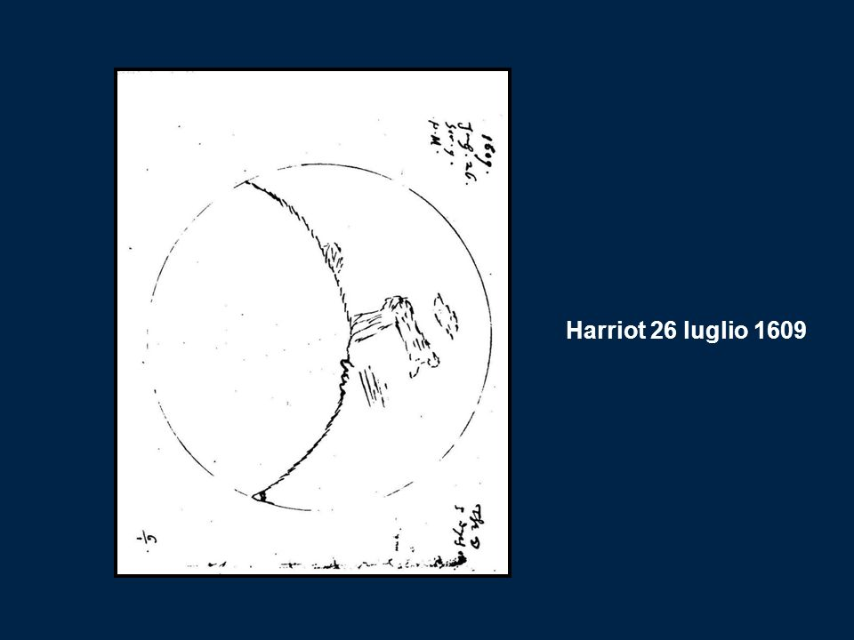 Harriot 26 luglio 1609