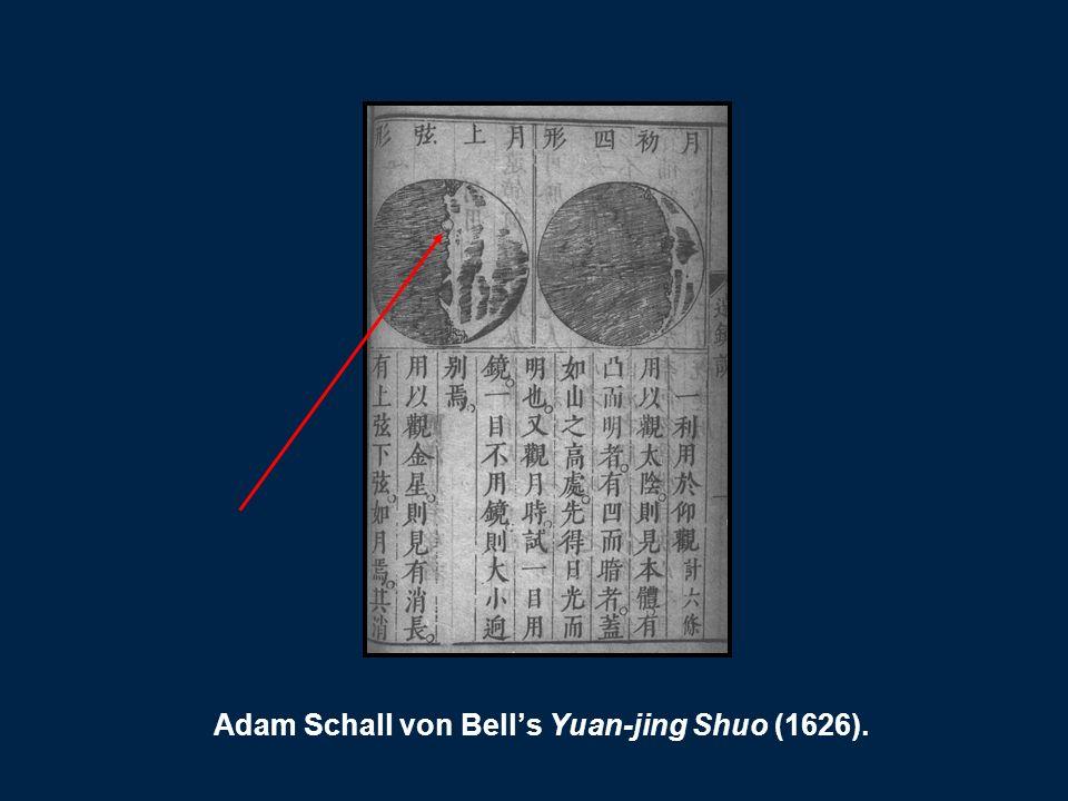 Adam Schall von Bells Yuan-jing Shuo (1626).